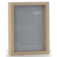 4 x 6  inch Oak Effect Deep Wood Wall Hanging Photo Frame